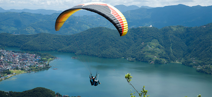 Paragliding and Parahawking - Pokhara